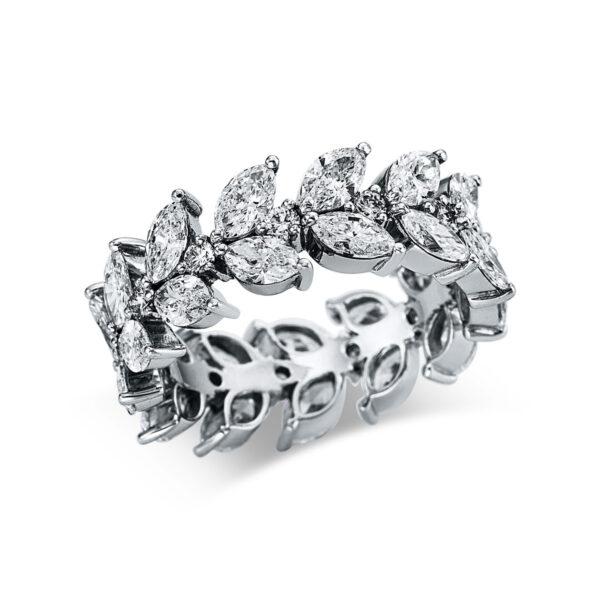 18 kt fehérarany több köves gyűrű 39 gyémánttal 1W955W853-1