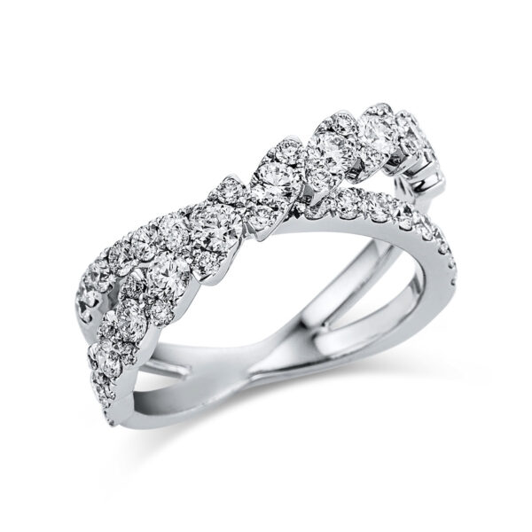 18 kt fehérarany több köves gyűrű 50 gyémánttal 1W557W854-1