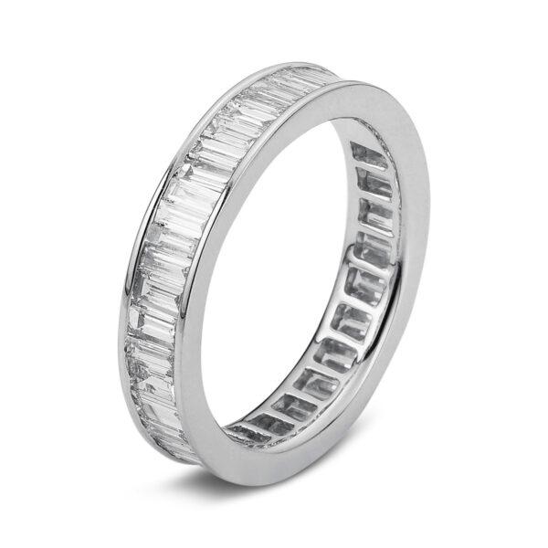 18 kt fehérarany több köves gyűrű 55 gyémánttal 1A953W857-3