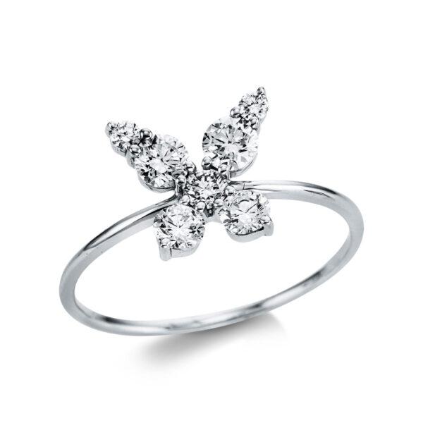 18 kt fehérarany több köves gyűrű 7 gyémánttal 1W756W853-1