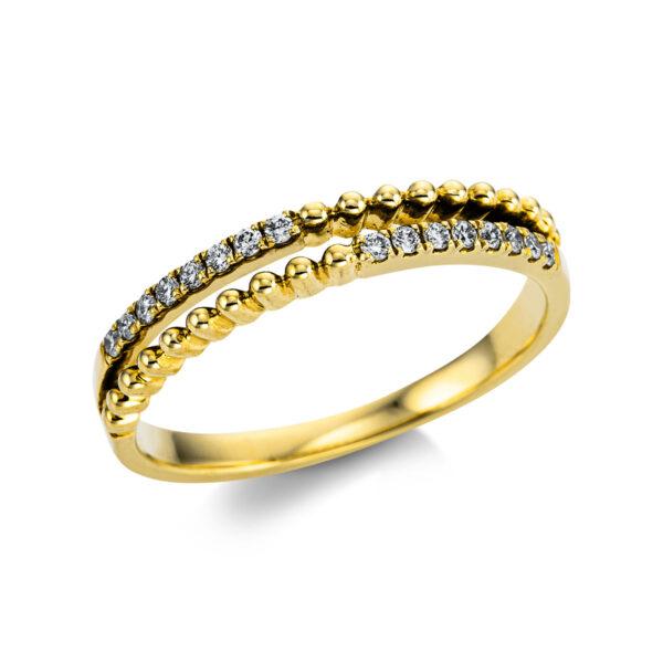 18 kt sárga arany  16 gyémánttal 1W858G854-1