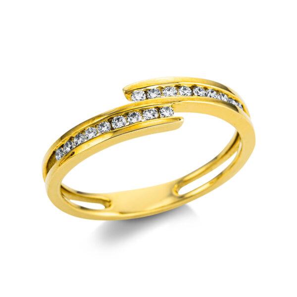 18 kt sárga arany  18 gyémánttal 1W859G854-1