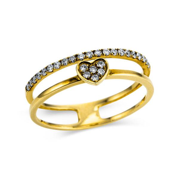 18 kt sárga arany  27 gyémánttal 1W852G854-1