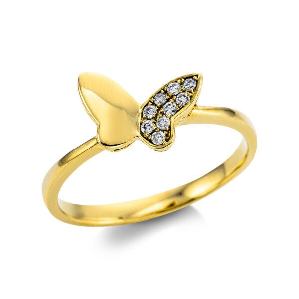18 kt sárga arany  9 gyémánttal 1W856G854-1