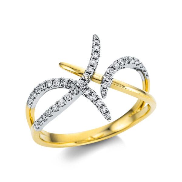 18 kt sárga arany / fehérarany  41 gyémánttal 1W749GW854-1
