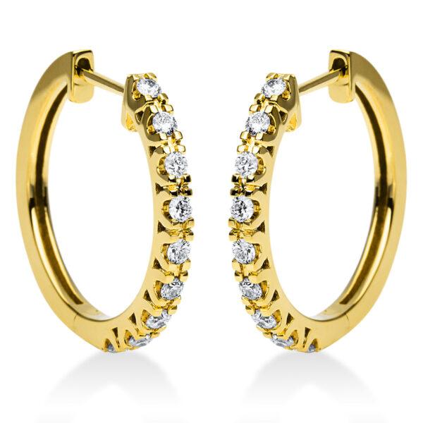 18 kt sárga arany karika és huggie 18 gyémánttal 2I974G8-1