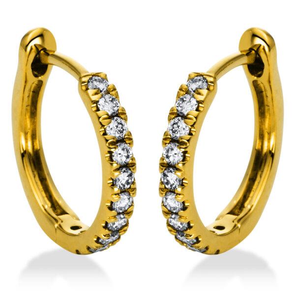 18 kt sárga arany karika és huggie 22 gyémánttal 2H992G8-1