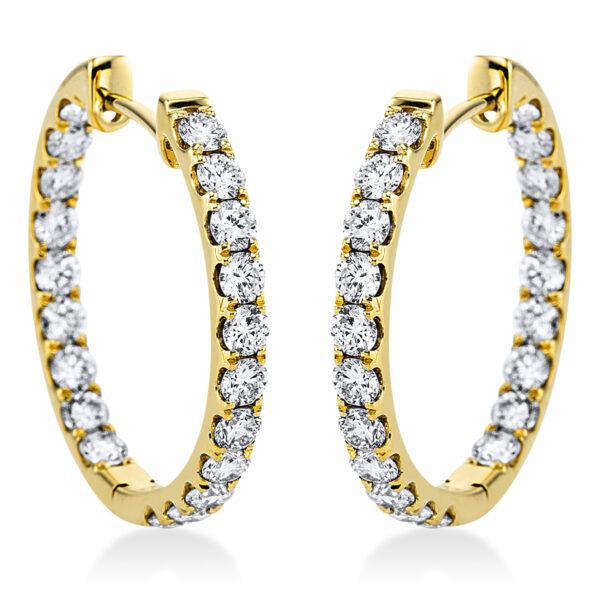 18 kt sárga arany karika és huggie 40 gyémánttal 2J991G8-1