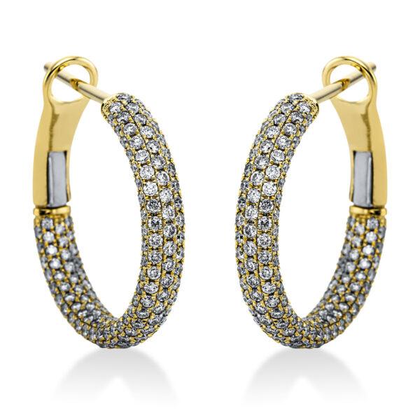 18 kt sárga arany karika és huggie 506 gyémánttal 2J992G8-1