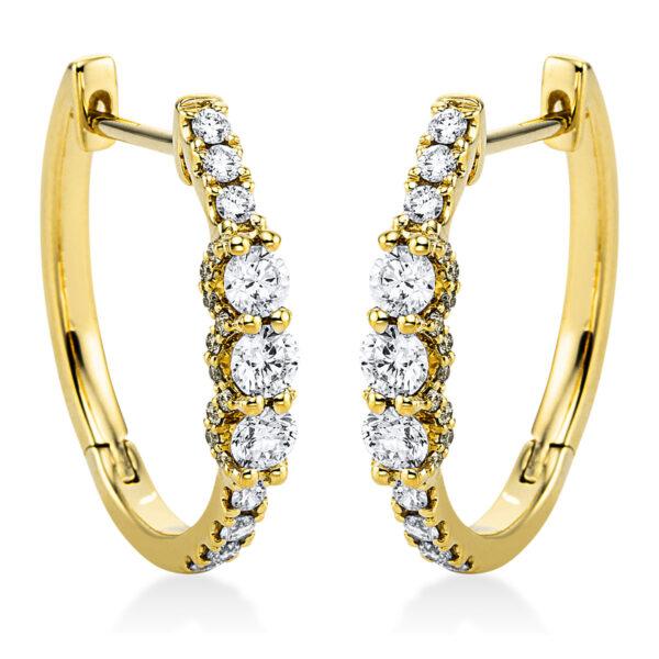 18 kt sárga arany karika és huggie 60 gyémánttal 2J987G8-1