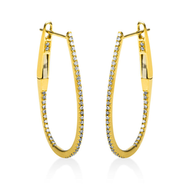 18 kt sárga arany karika és huggie 92 gyémánttal 2D502G8-3