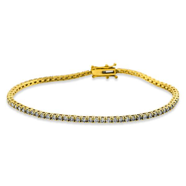 18 kt sárga arany karkötő 77 gyémánttal 5C305G8-1