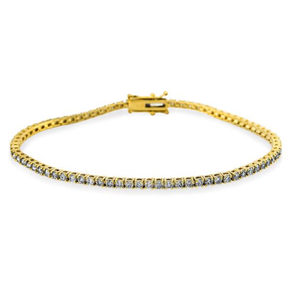 18 kt sárga arany karkötő 77 gyémánttal 5C306G8-1