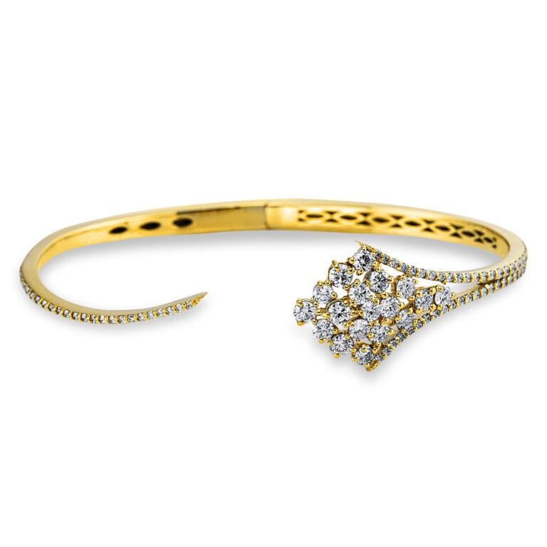 18 kt sárga arany karperec 91 gyémánttal 6A627G8-1