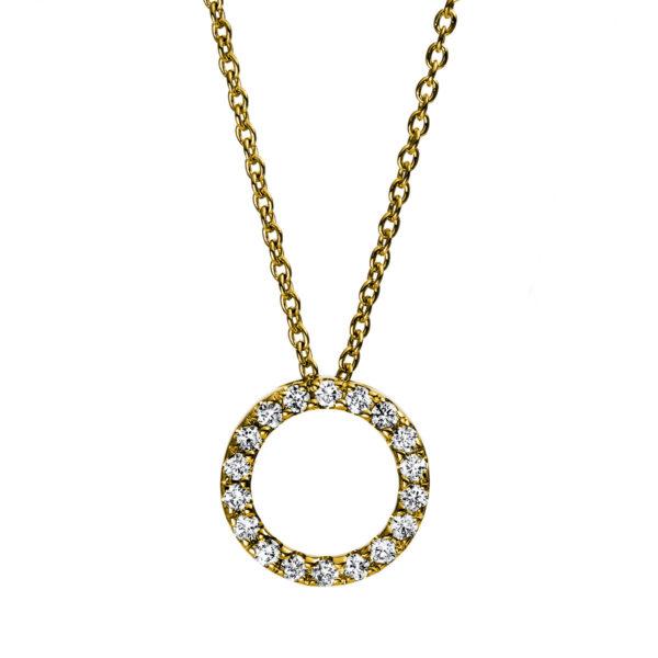 18 kt sárga arany nyaklánc 18 gyémánttal 4D998G8-4