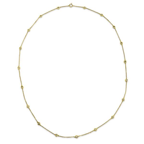 18 kt sárga arany nyaklánc 20 gyémánttal 4G148G8-1