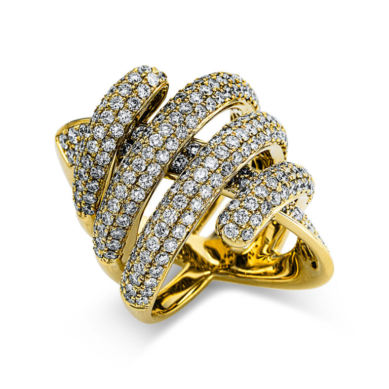 18 kt sárga arany pavé 244 gyémánttal 1W984G854-1