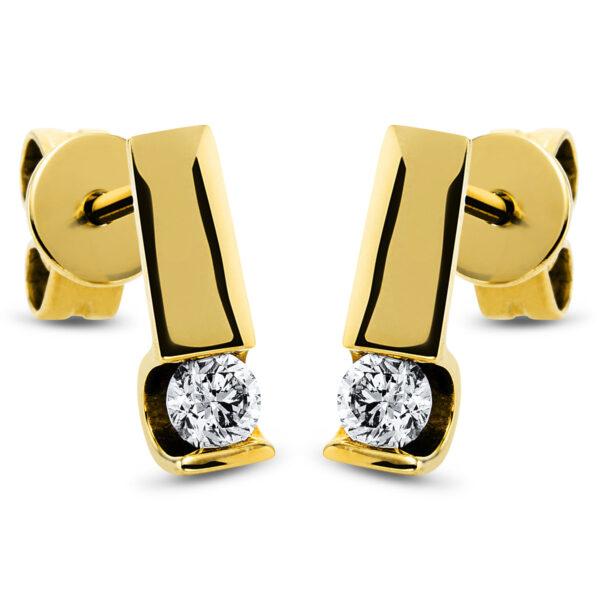 18 kt sárga arany steckeres 2 gyémánttal 2K164G8-1