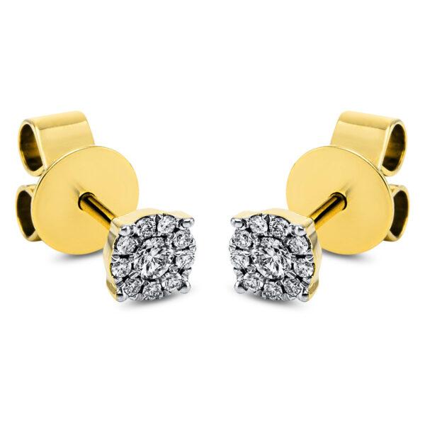 18 kt sárga arany steckeres 20 gyémánttal 2I903G8-2