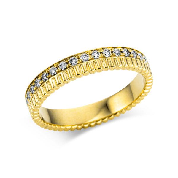 18 kt sárga arany több köves gyűrű 35 gyémánttal 1W734G854-1