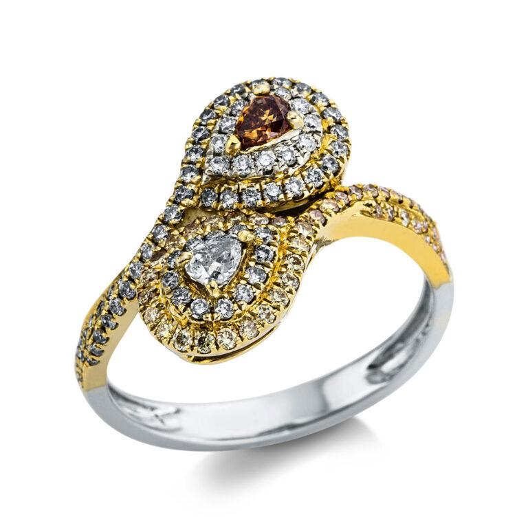 18 kt  több köves gyűrű 112 gyémánttal 1X052T854-1