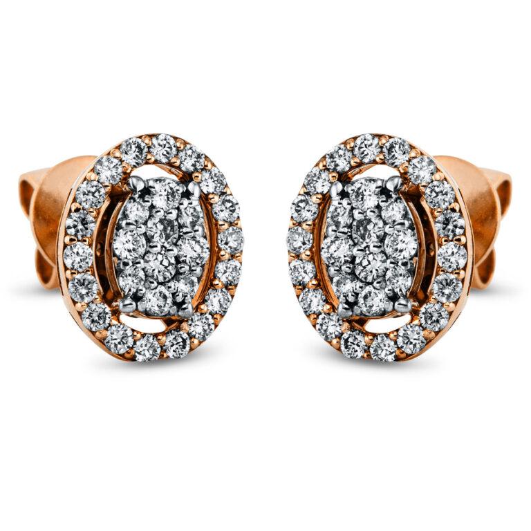 18 kt vörös arany / fehérarany steckeres 56 gyémánttal 2K275RW8-1
