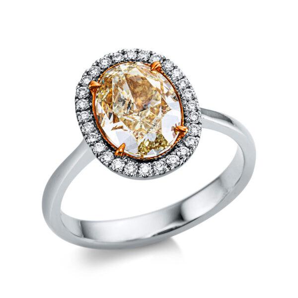 18 kt vörös arany / fehérarany több köves gyűrű 29 gyémánttal 1X012RW852-1
