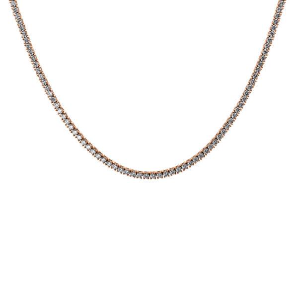 18 kt vörös arany nyaklánc 181 gyémánttal 4D460R8-1
