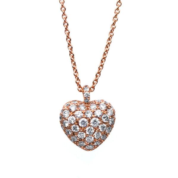 18 kt vörös arany nyaklánc 52 gyémánttal 4B998R8-3