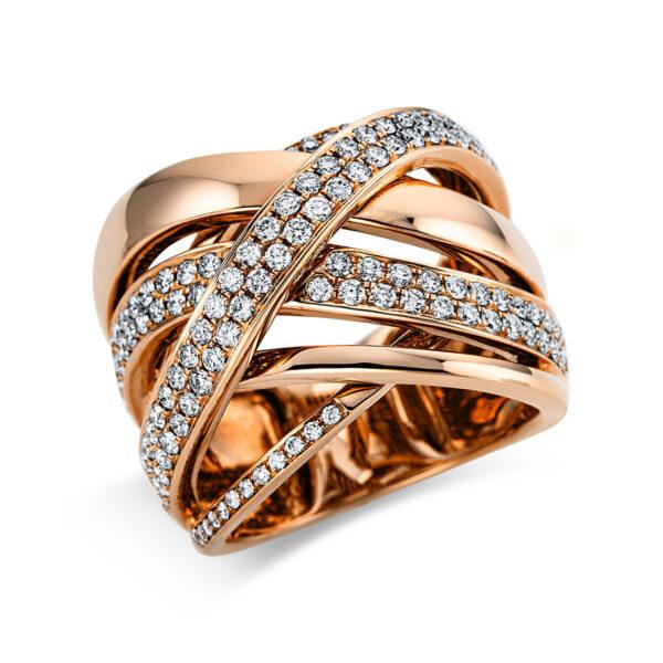 18 kt vörös arany pavé 130 gyémánttal 1O063R853-1