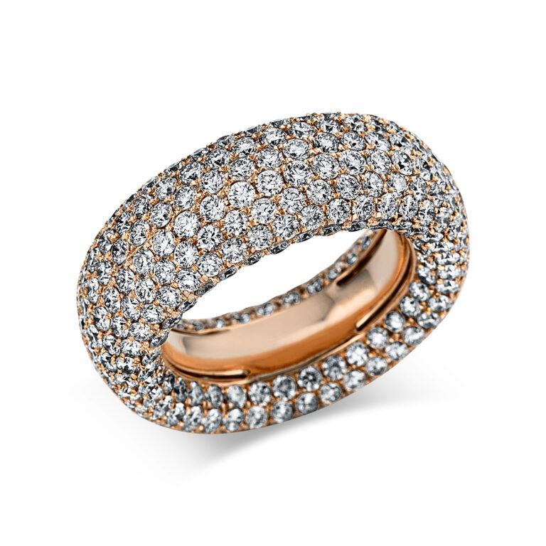 18 kt vörös arany pavé 386 gyémánttal 1X166R854-1