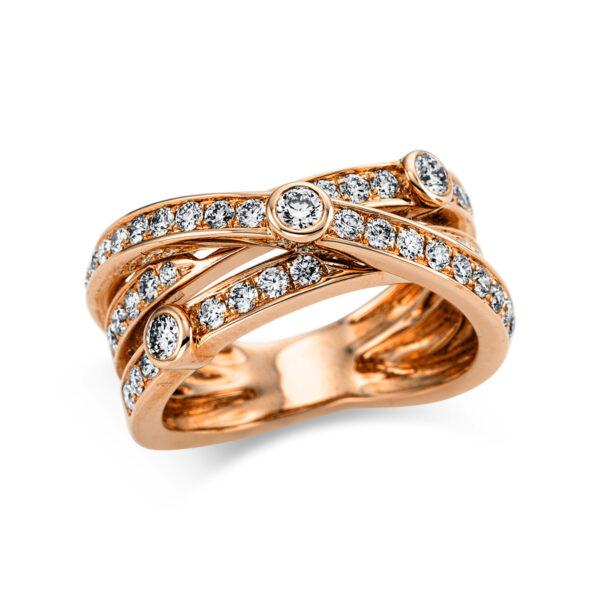 18 kt vörös arany pavé 45 gyémánttal 1W975R853-1