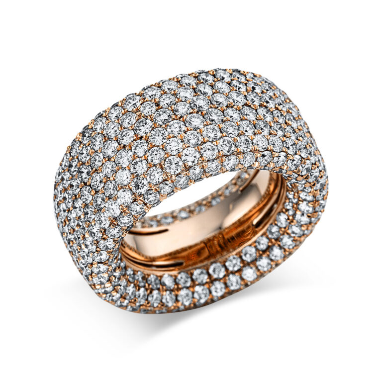 18 kt vörös arany pavé 472 gyémánttal 1X170R854-1