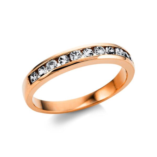 18 kt vörös arany színes drágakő 6 gyémánttal