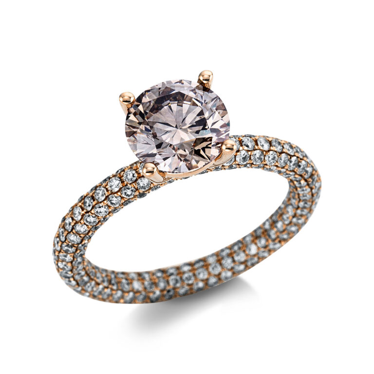 18 kt vörös arany szoliter oldalkövekkel 330 gyémánttal 1X279R854-1