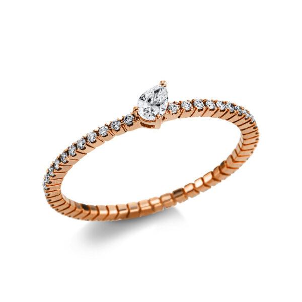 18 kt vörös arany szoliter oldalkövekkel 49 gyémánttal 1W730R854-1