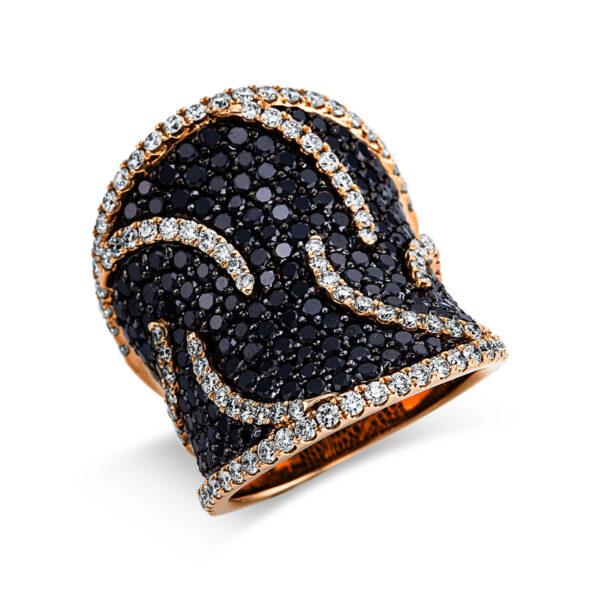 18 kt vörös arany több köves gyűrű 266 gyémánttal 1W985R854-1