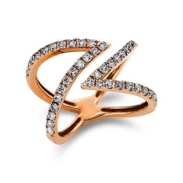 18 kt vörös arany több köves gyűrű 44 gyémánttal 1W979R853-1